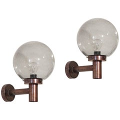 Pair of Outdoor Wall Lights by Falkenbergs Belysning, Sweden, 1970