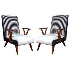 Pair of Outstanding Mid-Century Brazilian Armchairs, 1950