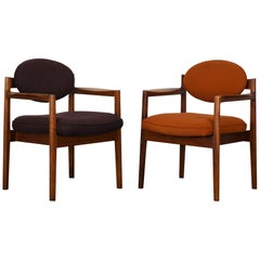 Pair of Oval Back Armchairs by Jens Risom, 1960s