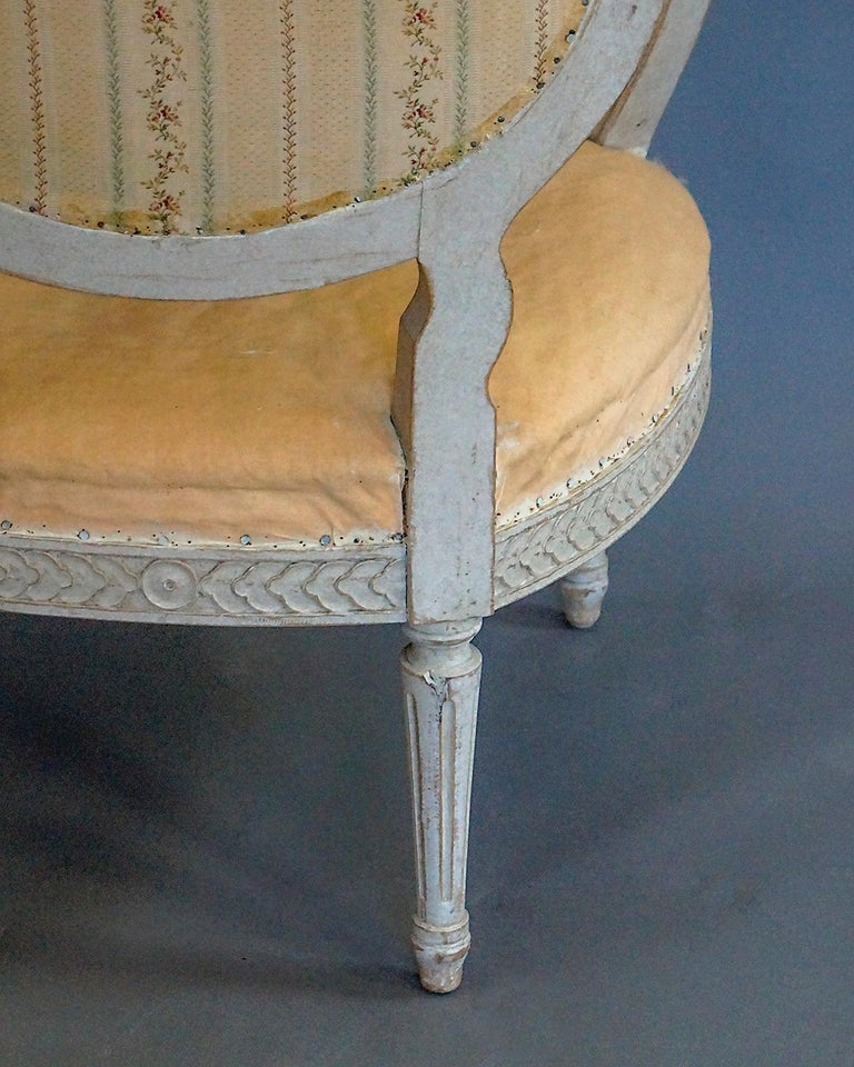 Pair of Oval Backed Swedish Armchairs For Sale 4