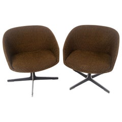 Pair of Overman Style Pod Swivel Chairs