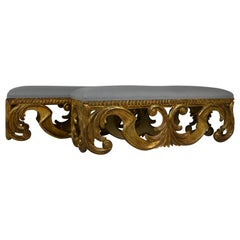 Pair of Oversize Gilded Benches