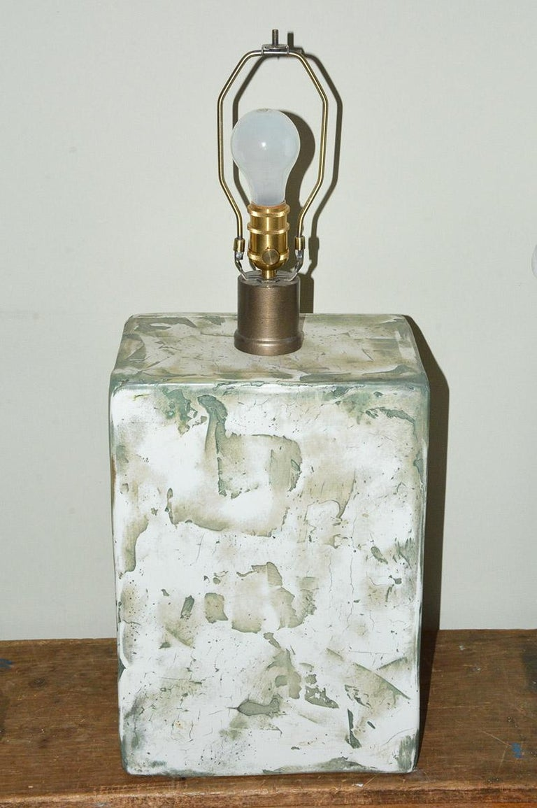 Contemporary Pair of Oversize Modern Organic Table Lamps For Sale