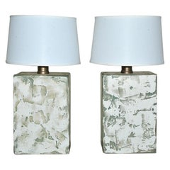 Pair of Oversize Modern Organic Table Lamps