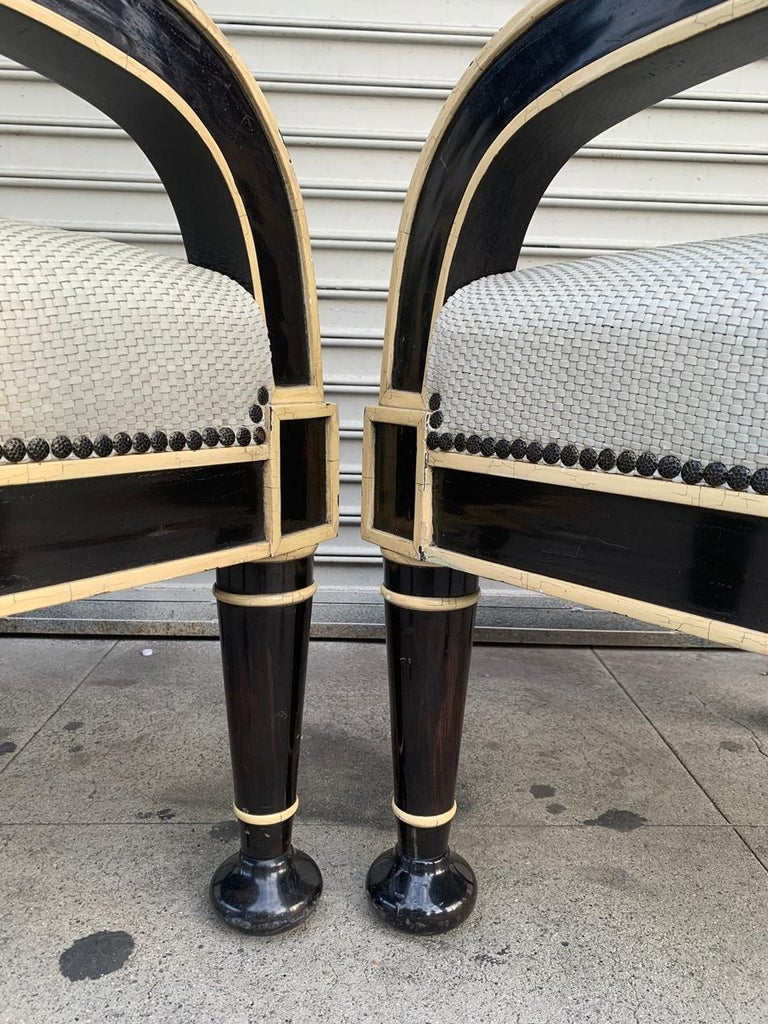 Pair of Oversized Armchairs by Hendrix-Allardyce For Sale 3