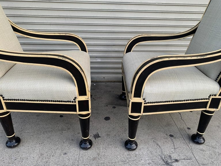 Pair of Oversized Armchairs by Hendrix-Allardyce For Sale 6