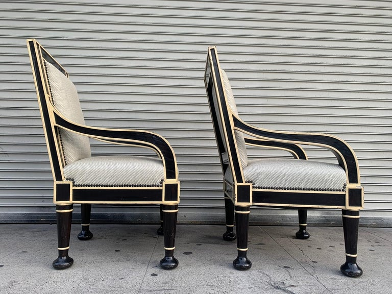 Art Deco Pair of Oversized Armchairs by Hendrix-Allardyce For Sale