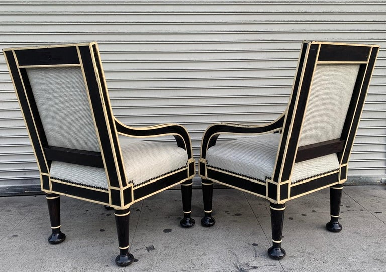 Pair of Oversized Armchairs by Hendrix-Allardyce In Good Condition For Sale In Los Angeles, CA