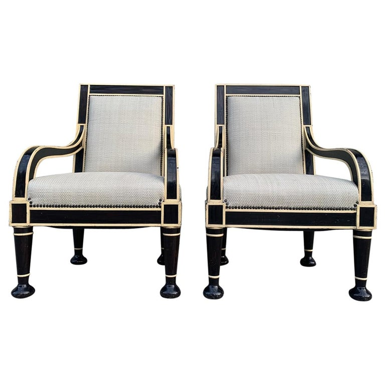 Pair of Oversized Armchairs by Hendrix-Allardyce For Sale