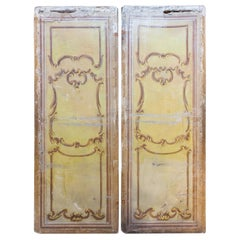 Pair of Oversized Italian Hand-Painted Stage Prop Scenery Panels