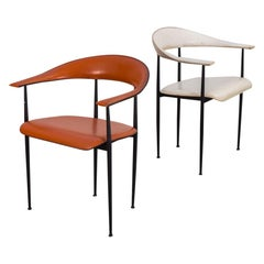 Pair of P40 Armchairs by Giancarlo Vegni and Gianfranco Gualtierotti for Fasem