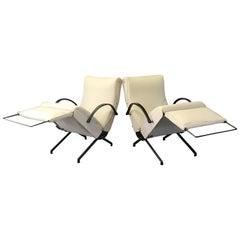 Pair of P40 Lounge Chairs by Osvaldo Borsani for Tecno, 1950s