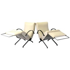 Pair of P40 Lounge Chairs by Osvaldo Borsani for Tecno, 1950s