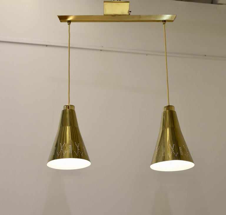 Pair of Paavo Tynell, Double Pendants for Taito Oy, Finland In Excellent Condition For Sale In New York, NY