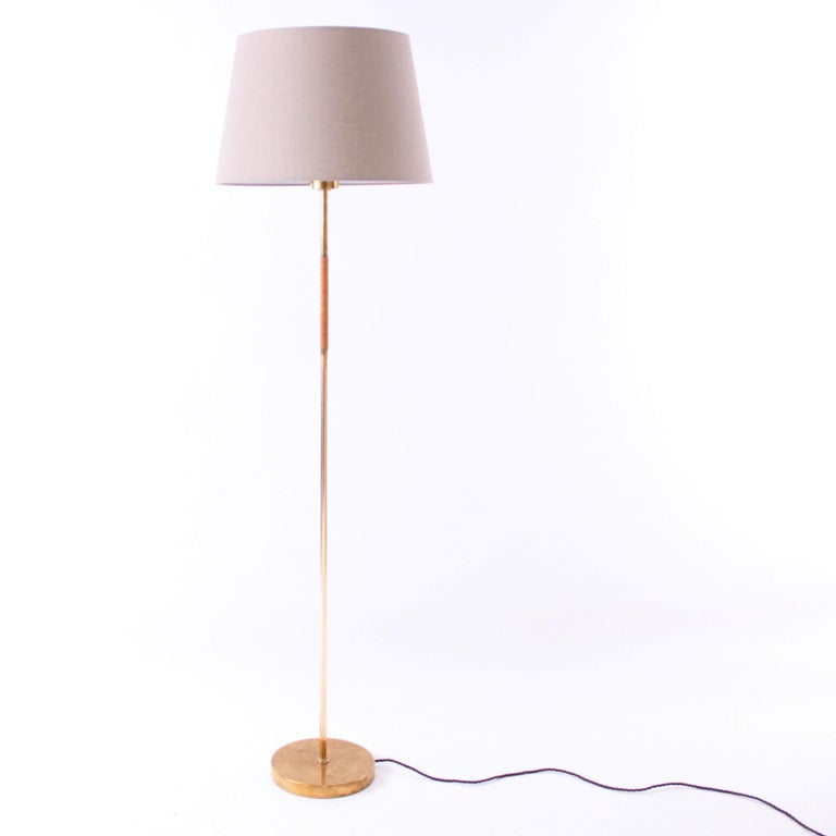 Mid-Century Modern Pair of Paavo Tynell Floor Lamps Idman 1950s For Sale