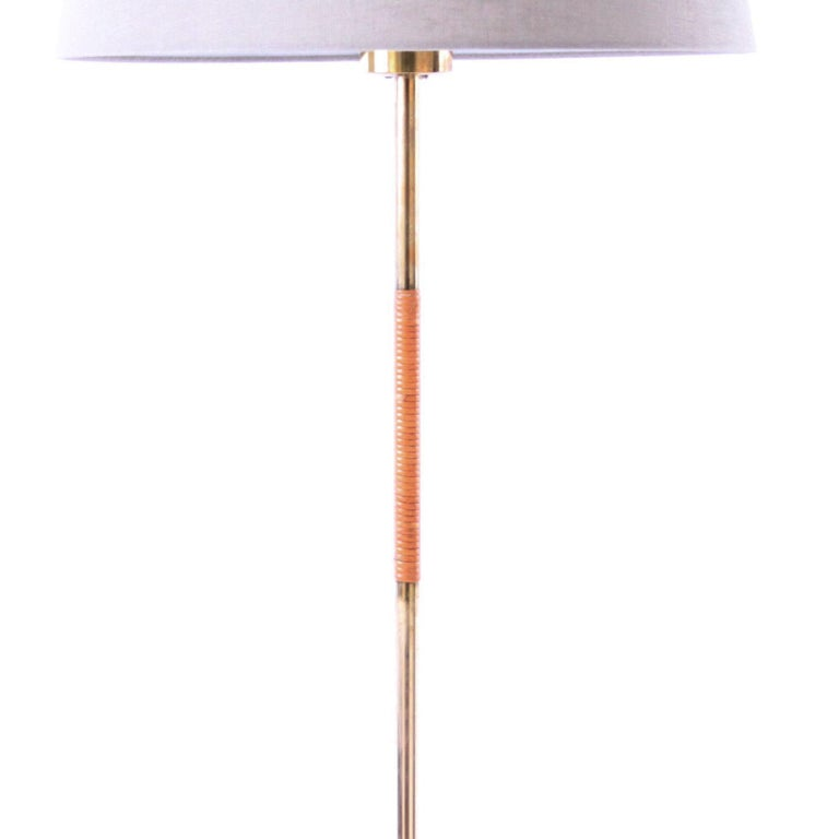 Polished Pair of Paavo Tynell Floor Lamps Idman 1950s For Sale