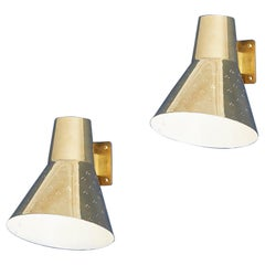 Pair of Paavo Tynell Wall Lights in Brass