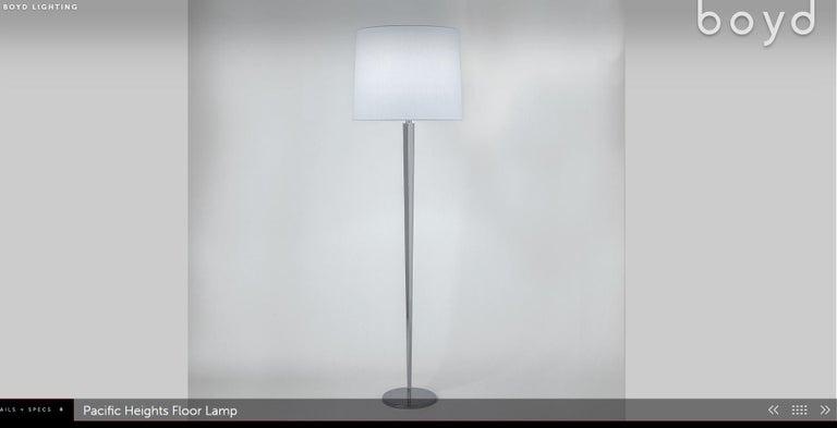 We are delighted to offer for sale this pair of RRP £8,800 Boyd Lighting Pacific heights floor lamps designed by Barbara Barry  An absolutely sublime pair of high contemporary designer floor lamps Designed by the genius that is Barbara Barry and