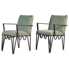 Pair of Pacific Iron Armchairs