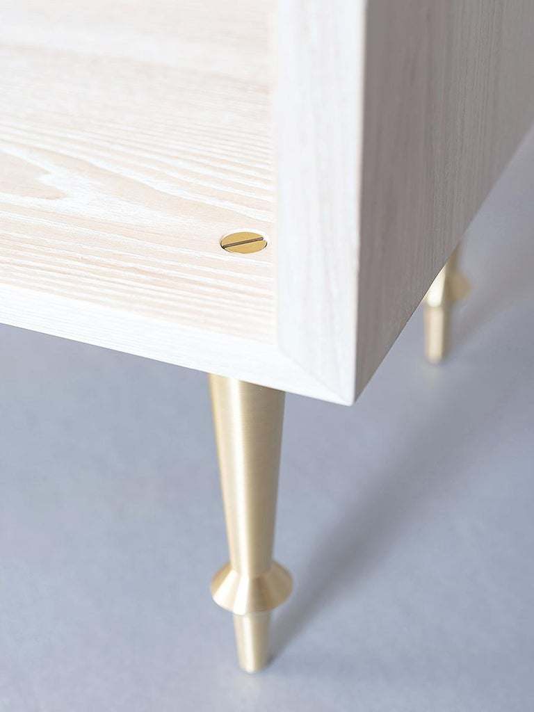Bleached Pair of Pacific Nightstands by VOLK For Sale