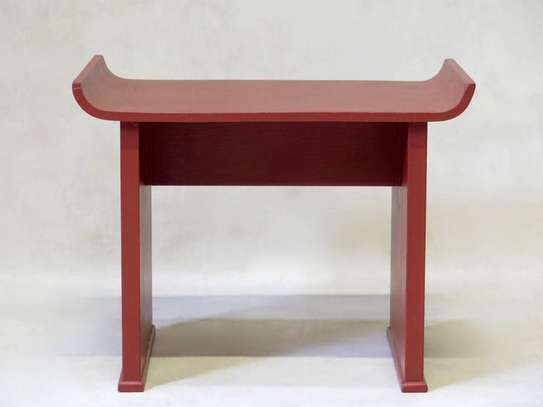 Mid-Century Modern Pair of Pagoda Style Side Tables, circa 1950s For Sale