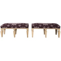 Pair of Painted Benches