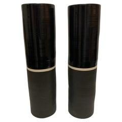 Pair of Painted Ceramic Calvin Klein Vases