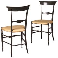 Pair of Painted Chiavari Chairs