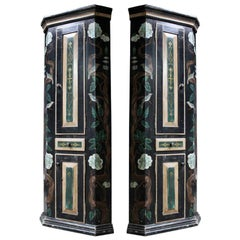 Pair of Painted Corner Cabinets