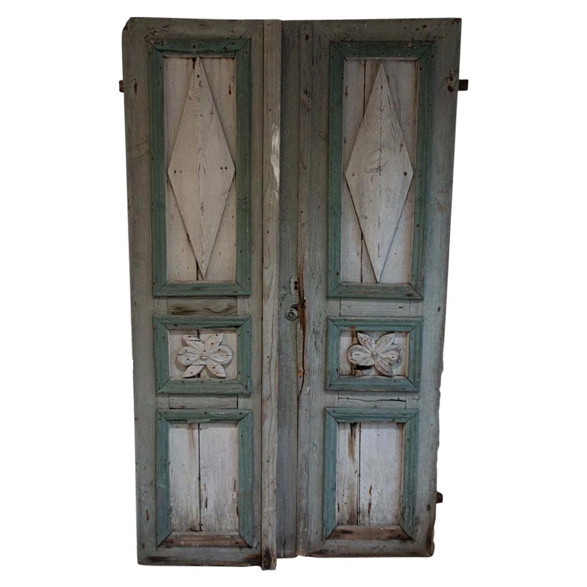 Pair of Painted Doors