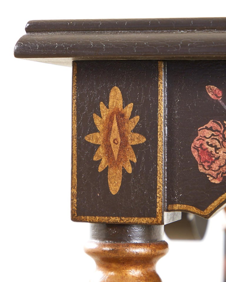 Pair of Painted French Louis XIII Style Lamp Tables For Sale 6