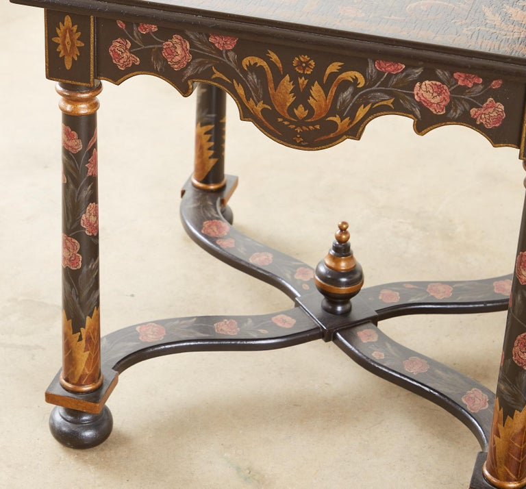 Pair of Painted French Louis XIII Style Lamp Tables For Sale 10