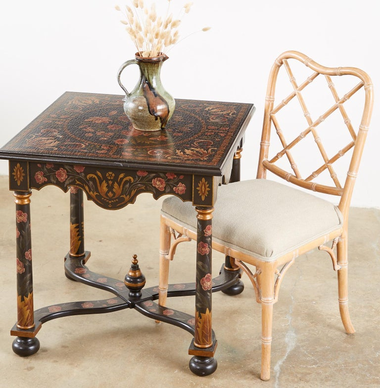 Pair of Painted French Louis XIII Style Lamp Tables In Good Condition For Sale In Oakland, CA