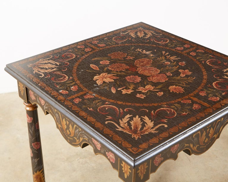 Pair of Painted French Louis XIII Style Lamp Tables For Sale 2