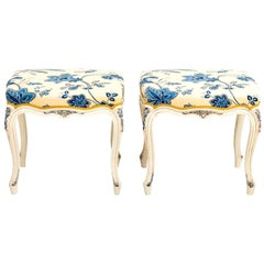 Pair of Painted French Style Benches