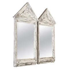 Pair of Painted Greek Revival Mirrors, circa 1860s