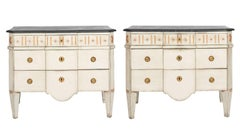 Pair of Painted Gustavian Commodes