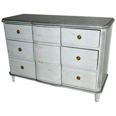 Pair of Painted Gustavian Swedish Style Chest of Drawers