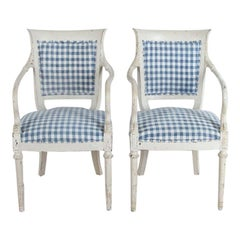 Pair of Painted Italian Armchairs