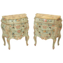 Pair of Painted Italian Chests of Drawers