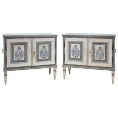 Pair of Painted Louis Seize Sideboards, Late 18th Century