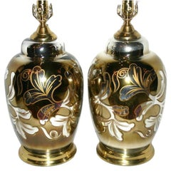 Pair of Painted Mercury Table Lamps