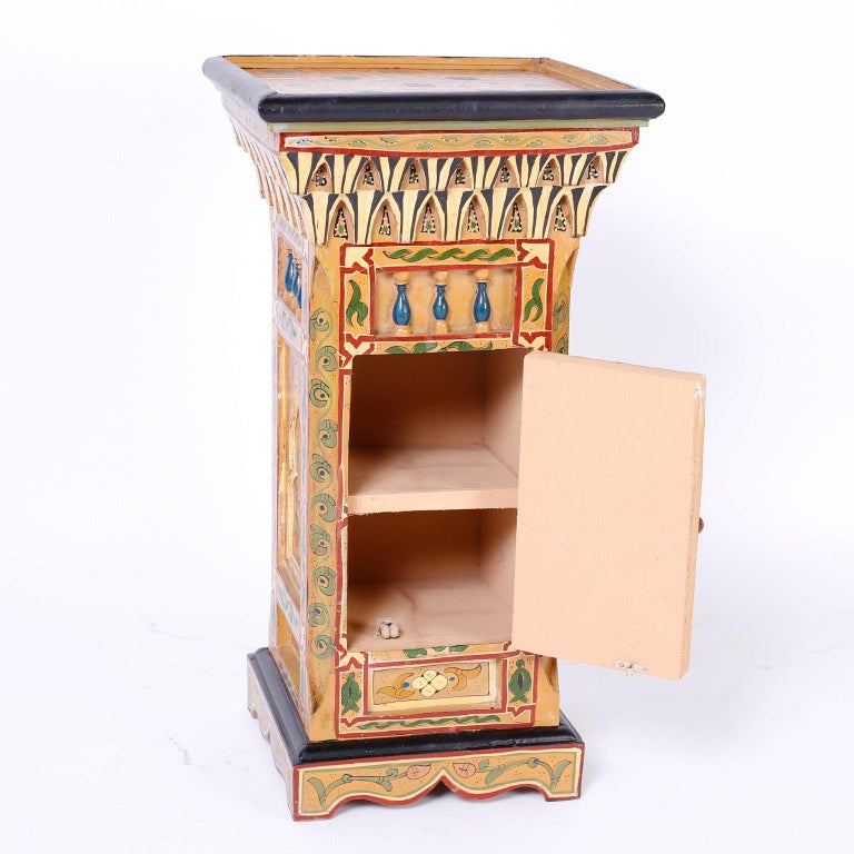 20th Century Pair of Painted Moroccan Stands For Sale