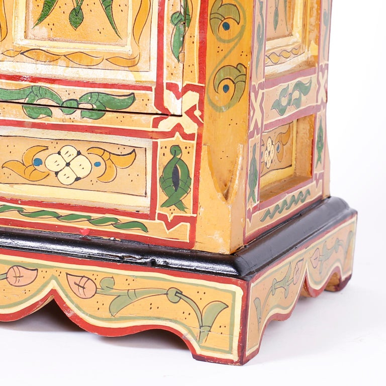 Pair of Painted Moroccan Stands For Sale 2