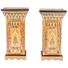 Pair of Painted Moroccan Stands or Pedestals
