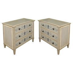 Pair of Painted Neoclassical Style Chests