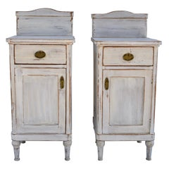 Pair of Painted Pine Nightstands