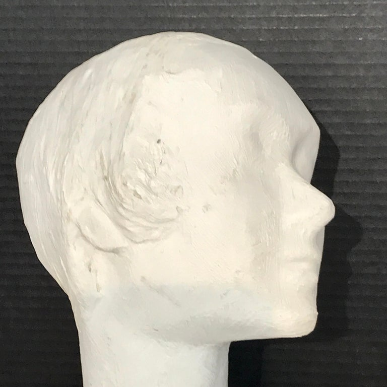 Pair of Painted Plaster Flapper Mannequin Busts In Good Condition For Sale In West Palm Beach, FL