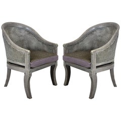 Pair of Painted Regency Spoon Back Chairs