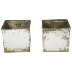 Pair of Painted Square Planters